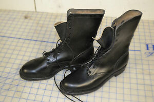 all leather boots work size 9 narrow sole vintage military slick sole