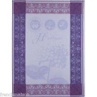 Garnier Thiebaut French Kitchen Cotton Towel HORTENSIA Blue Hydrangea New $23.50