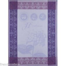 Garnier Thiebaut French Kitchen Tea Dish Towel: HORTENSIA BLEU Hydrangea NEW