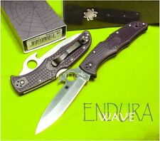 Couteau SPYDERCO Gray FRN ENDURA 4 Plain WAVE Japan SC10PGYW