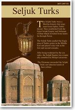 The Arab Empire - Seljuk Turks - NEW Social Studies Classroom Poster