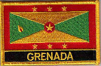 Grenada Country Flag Embroidered Patch T9