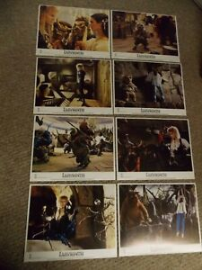 """LABYRINTH(1986)DAVID BOWIE SET OF 8 ORIGINAL 11""""BY14"""" LOBBY CARDS NEAR MINT COND"""