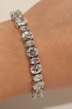 18k White Gold Filled Cute Tennis Diamond Oval Cut Women Bracelet 5ct