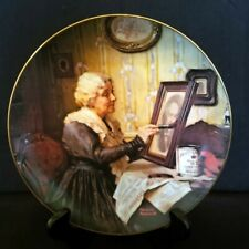 """Norman Rockwell Collector Plate """"Grandma's Love"""" #7973J, Knowles China"""