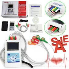 USA Dynamic ECG Holter 3 Channel EKG Holter Analyzer 12 Leads Recorder USB CD