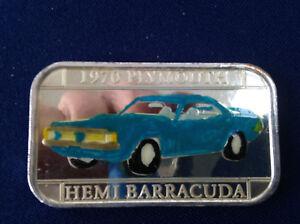 1995 Silvertowne 1970 Plymouth Barracuda Hemi ST-109EN Silver Art Bar P1812