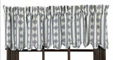 """(1) Bluehill Harbor White Scalloped Cotton Lined Window Valance 72""""W x16"""" L"""