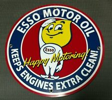 Esso Gas Oil gasoline sign .Free ship on any 8 signs
