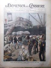 La Domenica del Corriere 13 Settembre 1908 Leone Tolstoi Marocco Stambul Florio