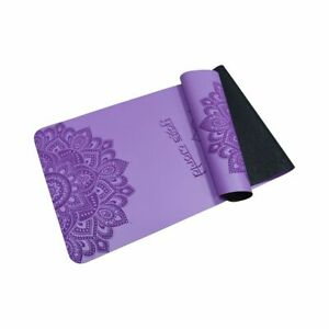 Yoga World Mandala PU Yoga Mat - Non-Slip Surface & Anti-Skid TPE Underside