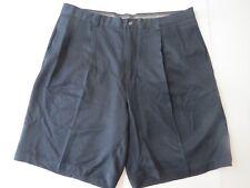 Tommy Bahama Black Silk Shorts 35 Pleated