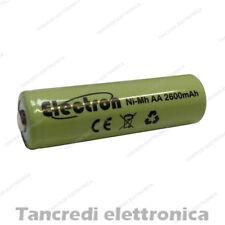 Stilo AA Batteria 50x14mm 2600mAh ricaricabile NiMh 2500mAh 2200mAh 3000mAh