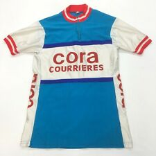 Vintage Lycra Team Cora Cycling Bike Racing Jersey Shirt MEN'S Medium M