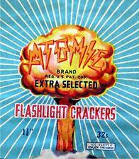 Vintage Atomic Firework Label