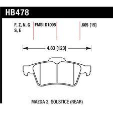 Hawk HB478B.605 HPS 5.0 Rear Disc Brake Pad Fits Volvo C30/C70/S40/V50