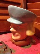 VTG Dutch Boy Man Hat Face TOBY JUG Coffee MUG Tea Cup Planter Blue Eyes Blond