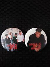 """Lot Of 2 - New Kids On The Block Vintage 1.5"""" Button / Pin Nkotb."""