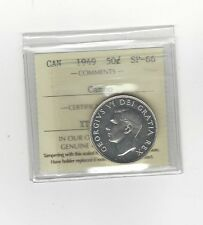 **1949**, ICCS Graded Canadian 50 Cent, **SP-66 Cameo**