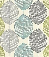 Arthouse Retro Leaf Motif Teal Green  Vintage Wallpaper 408207  Feature Wall