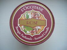 New Loccitane Rose Candle Glass Jar Bougie Parfumee France Think Summer WOW#