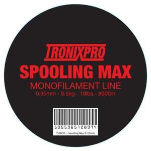 TronixPro Spooling Max Mono 19lb Red 0.35mm / 8000m Bulk Spool Fishing Line
