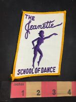 Vtg (circa 1970s) THE JEANETTE SCHOOL OF DANCE Dancer Advertising Patch O80N