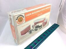 HO Scale Bachman Plasticville Farm Buildings with Animals Building Kit - Item# 4