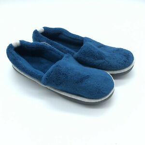 Isotoner Womens Slippers Fabric Fleece Clog Slip On Navy Blue Size 9.5-10