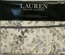 Ralph Lauren California King Sheet Set Devon 4pc Cottage Leaves Modern Cream