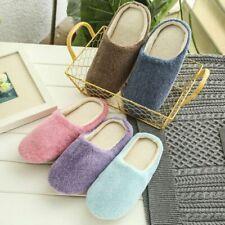 Home Women Men Fleece Anti-Slip Slippers Indoor House Floor Shoes Size 6.5-11