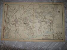 Vintage Antique 1915 Babylon Amityville Lindenhurst Suffolk County New York Map