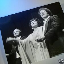 BIRGIT NILSSON, JAMES LEVINE and MANFRED JUNG in a Candid ORIGINAL PHOTO