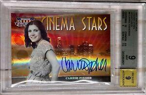 2007 Donruss Americana Cinema Stars HOLO AUTO CS-4 Carrie Fisher 43/50 BGS 9