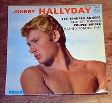 45t EP Johnny Hallyday - Tes tendres années - BIEM
