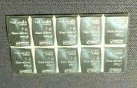 TEN(10) 999 SILVER 1 GRAM VALCAMBI SIUSSE BULLION BARS! *** 10 BARS! ~>