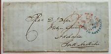 SA, NSW, Australian States, GB, 1850 Sydney to Adelaide underpaid ship letter
