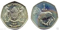 14 Botswana 1 Pula Coins,Uncirculated KM 24