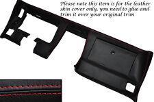 RED Stitch DASH dashboard cuoio pelle copertura adatta Corvette C3 1977-1982