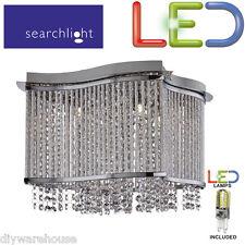 SEARCHLIGHT 8323-3CC 3  LED LIGHT G9 MODERN SQUARE CEILING FLUSH FITTING CHROME