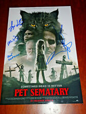 STEPHEN KING PET SEMATARY 2019 CAST SIGNED AUTOGRAPHED 12X18 PHOTO POSTER CLARKE