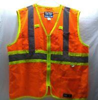 Walls Orange Work Wear Reflective Safety Vest XL 46-48