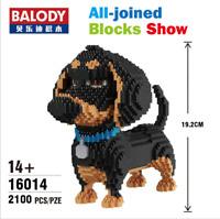 Bausteine Schwarz Hund Mops Spielzeug DIY Kinder Modell Geschenk Dekoration OVP