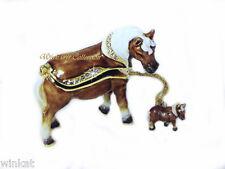 Miniature Horse Bejeweled Trinket Box