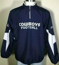 Dallas Cowboys NFL Football Rbk Reebook Pullover Windbreaker Jacket Men's Medium