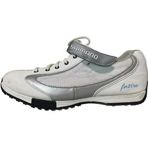 Shimano Womens Cycling Shoes White Leather SH-FN20WA Size 7