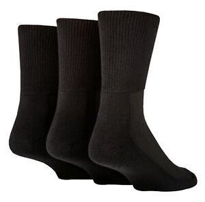 IOMI - 3 Pack Extra Wide Crew Bamboo Diabetic Socks | Mens & Womens
