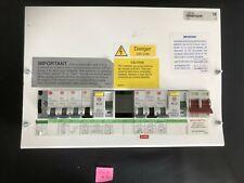 Wylex Skeleton fuse-box 10 Way Main Switch, Dual RCD & breakers #I16
