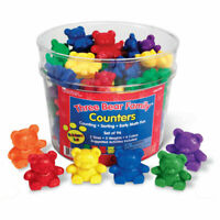 Learning Resources Three Bear Family Rainbow Counters. Kids Toys From Ages 3+