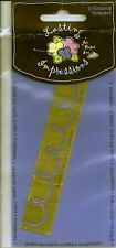Scribble Lasting Impressions Embossing Stencil Brass Border Template B216 New